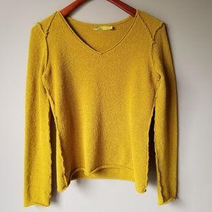 Prana | Raw Edge Super Soft Dark Yellow Sweater